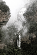 BKW111 Wentworth Falls in Mist, Blue Mountains National Park NSW