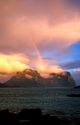 SC131 Rainbow at Sunset, Lord Howe Island NSW