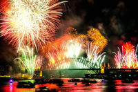 FW103 Fireworks, Sydney Harbour, New Years Eve