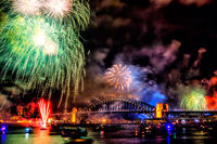 FW104 Fireworks, Sydney Harbour, New Years Eve