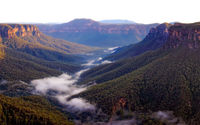 GV101 Early Morning, Grose Valley from Evans Lookout
